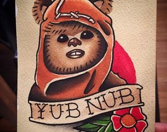 Ewok Yub Nub Print