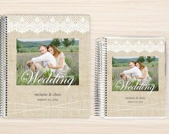 Custom Wedding Planner, Wedding Book, Bridal Organizer, Great Engagement Gift, Wedding Planning, Custom Engagement Gift, Burlap Lace