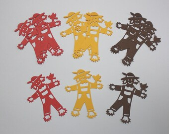 9 Scarecrow Die Cuts/Embellishments/Paper Cuts/Fall/Halloween/Scrapbook/Card Making/Die Cuts/Scarecrow