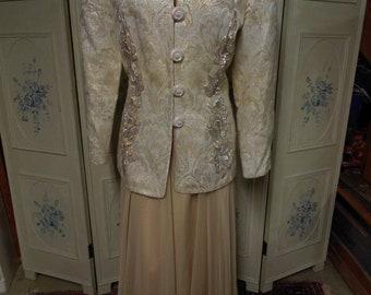 Lillie Rubin 1980s Vintage 2 piece Evening Outfit, Size 14