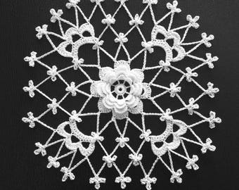 Irish Crochet Rosette Made-To-Oder By Artistic NeedleWork