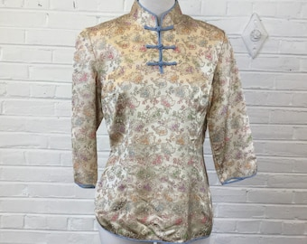 Beautiful Vintage Chinoiserie Brocade Top, size S