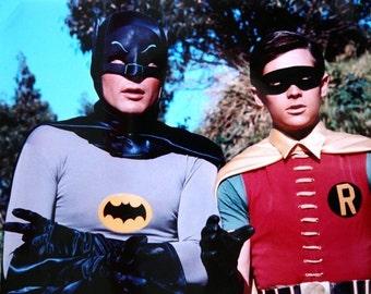 Poster  Batman  and Robin  Adam West  Burt Ward 16 x 20