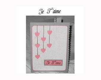 Je T'aime, I love you French UNMOUNTED rubber stamp Valentine, wedding anniversary, Sweet Grass Stamps #22