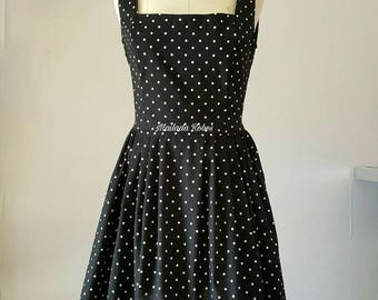 Vintage polka dot Halter dress