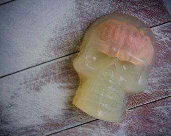 Skull Soap, Halloween soap, Creepy Soap, Scary Soap, Glycerin Soap Bar, Handmade Soap Bar, Holiday Soap, Brain Soap Bar, Halloween treat