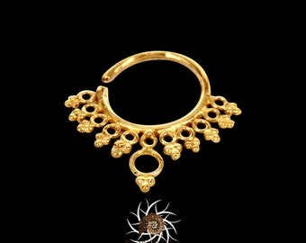 Brass Septum Ring - Septum Jewelry - Septum Piercing - Tribal Septum Ring - Indian Septum Ring - Septum Nose Ring - Nose Jewelry (B14)