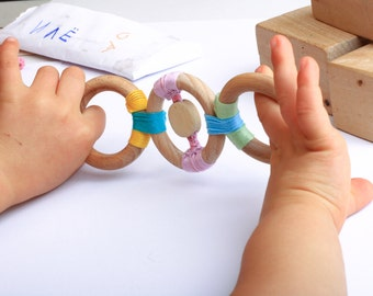 Wooden development toy -  ECO-Friendly baby teething toy-Wooden Teething Toy