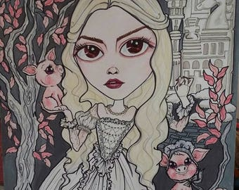 4 x 6 Mini Prints Fantasy Big Eye Horror Fairytale Art Prints by Leslie Mehl Art