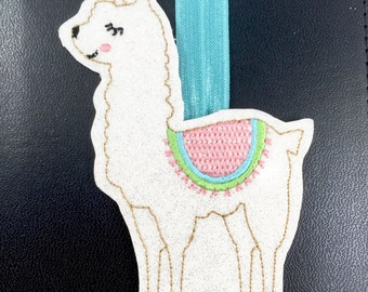 Bookmark- planner band - llama bookmark accessory - planner accessories for happy mambi bullet passion positive planners and journals