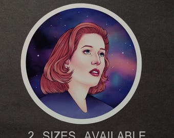X Files | Dana Scully Galaxy Sticker | 2 SIZES Available | Glossy Vinyl