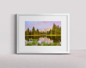 Grand Teton National Park, Schwabachers Landing, teton photo, mountain photo print, national park photography, Wyoming photography, wall art