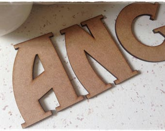 Blank writing of your choice letter height 8cm 3mm eps
