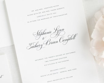 Delicate Elegance Wedding Invitations - Deposit