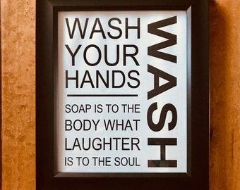 Wash Your Hands/ digital print