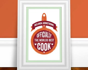 Best Cook Print   Cooking Print   Cooking Gift   Personalised Gift   Personalised Print   Decorative Print   Kitchen Print