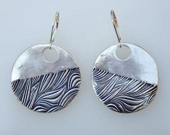 Seaweed Serenade fine silver earrings