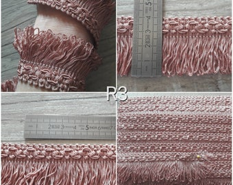 R3 lace fringe vintage old rose 40mm
