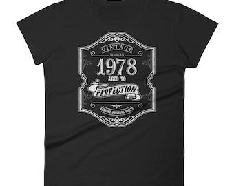 1978 Birthday Gift, Vintage Born in 1978 t-shirt for women, 40th Birthday shirt for her, Made in 1978 T-shirt, 40 Year Old Birthday Shirt