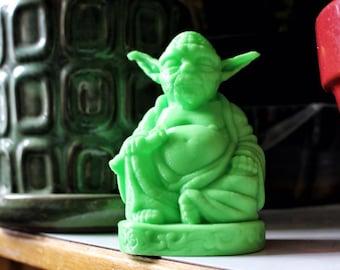 Yoda Buddha, Star Wars Buddha, Christmas Gift, Lightsaber, Master Yoda, Home Decor, Zen Yoda, Zen, buddha, laughing buddha