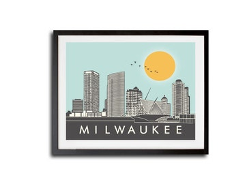 Milwaukee New Skyline Print, New MKE Skyline