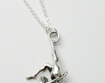 Beautiful Contortionist necklace in .925 silver by Bakutis
