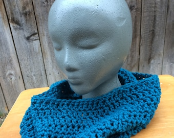 Teal Cowl Scarf