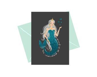 We Mermaid To Be Friends Greeting Card
