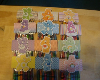 Carebears Made To Order Crayon Favor Bags