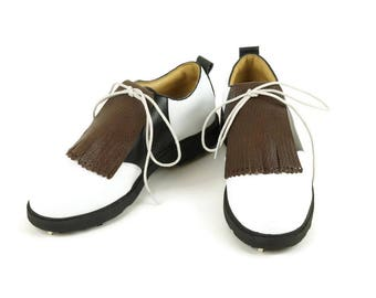 Brown Kilties for Mens Golf Shoes, Saddle Shoes, Kilties for Shoes, Lindy Hop Swing Dance, Golf Gifts for Men, Golf Gift for Dad, Golf Stuff