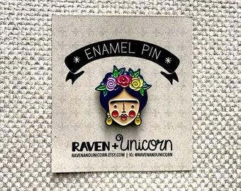 PRE-SALE! Frida Kahlo Enamel Pin, Frida Kahlo Pin, Soft Enamel Pin, Lapel Pin
