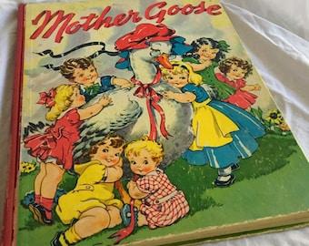 Vintage Hardcover 1941 Mother Goose Childrens Book