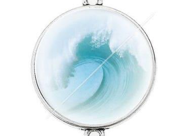 Great connector silver cabochon marine sea ocean a13