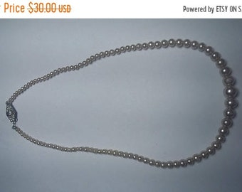 On Sale Sterling Silver Clasp Pearl Necklace