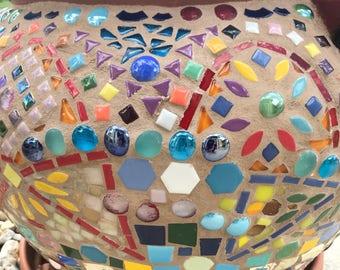 Large mosaic planter pot