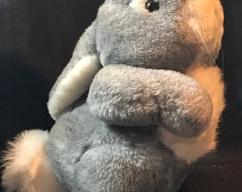 "Vintage Bunny Rabbit  ""Thumper"" Bunny Plush Dakin Rabbit Plush 1985 Thumper Easter Bunny"