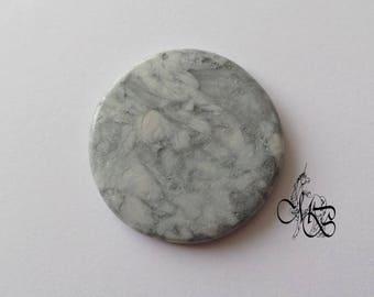 "Flat cabochon polymer clay ""imitation gray stone"" #4"