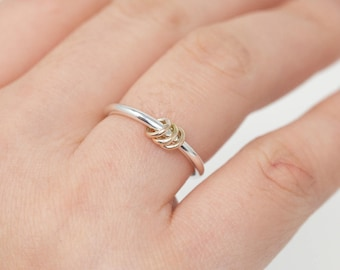 Sterling Silver&Gold Filled Spinner Ring Spinner Ring Silver Spinner Ring Fidget Ring Minimalist Worry Ring Meditation Ring Gift for Her