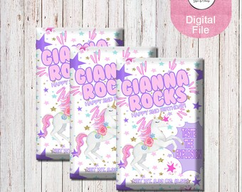 Unicorn Pop Rocks-Unicorn Candy Wrapper-Custom Pop Rocks Wrapper-Unicorn Party