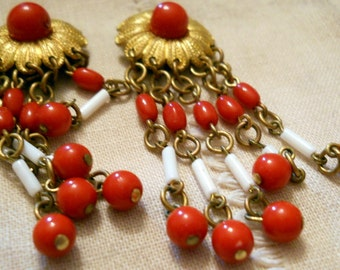 Classic Red and White Clip-On Earrings That Add Pzazz