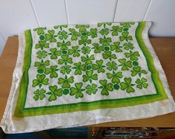 vintage Shamrock linen tea towel