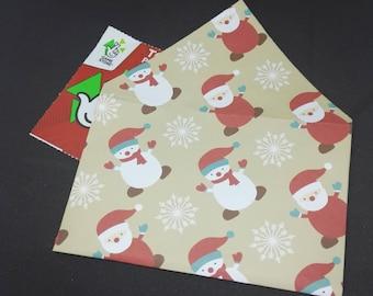 20 Origami Envelopes in Christmas Design