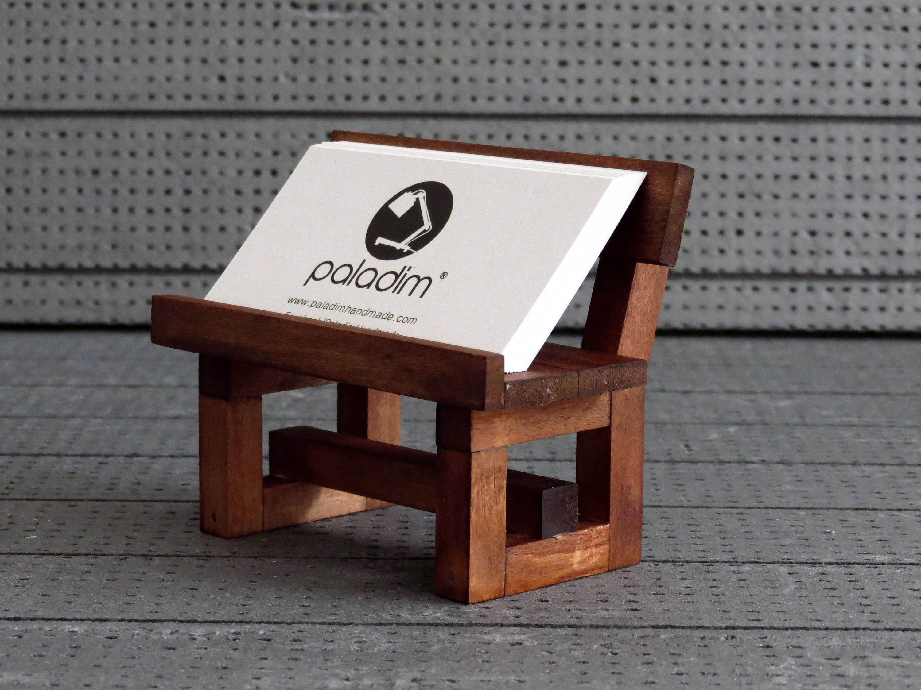 Card Holder Office Display Wooden Business Card Holder Desk