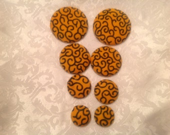 African Fabric Earrings, Extra Large Fabric Button earrings, Ankara Fabric Earrings, African Jewelry, Fabric Earrings, African Fashion