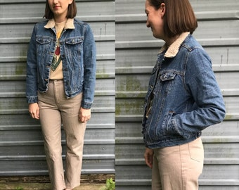 Schmidt Workwear denim jacket w/ faux shearling