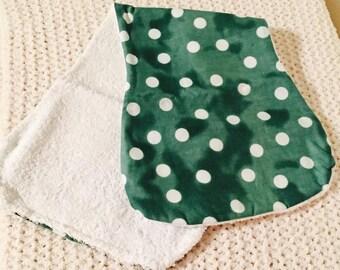 Mint Dot Burp Cloth