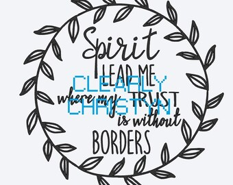 SpiritLeadMe inspirational quote bible verse hillsong PNG file