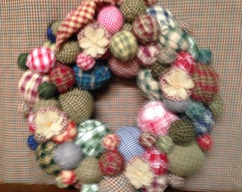 RAG BALL WREATH