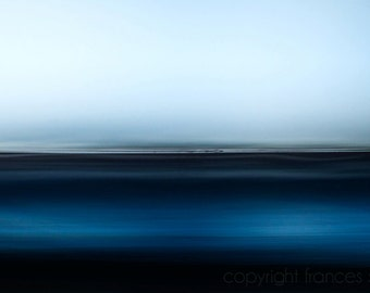 Blue Fog, zen wall art, mindfulness image, gallery wrap canvas, abstract seascape, cloud photography, mysterious photo, abstract wall decor