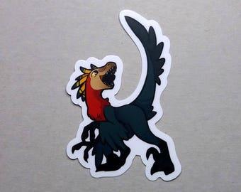 Happy Raptor Sticker